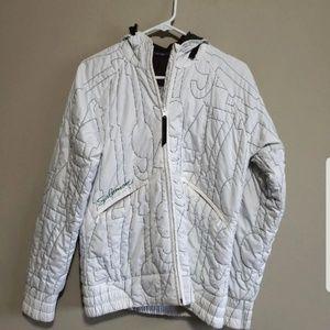 Women's White Hooded Jacket